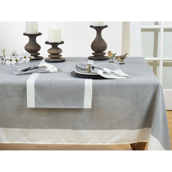Poly Tablecloth with Banded Border. Opens flyout.