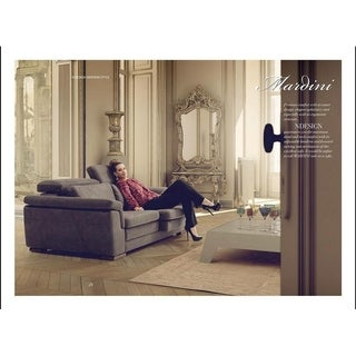 Mardini Italian Design Mid Century Modern Premium Quality Grey Sofa