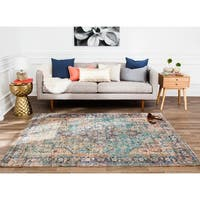 "Jani Hara Distressed Blue Jute-blend Rug - 7'6"" x 9'"