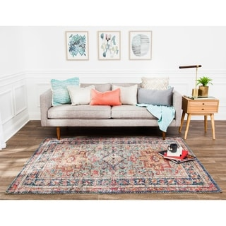 """Jani Calo Distressed Red Jute-blend Rug - 7'6"""" x 9'6"""""""