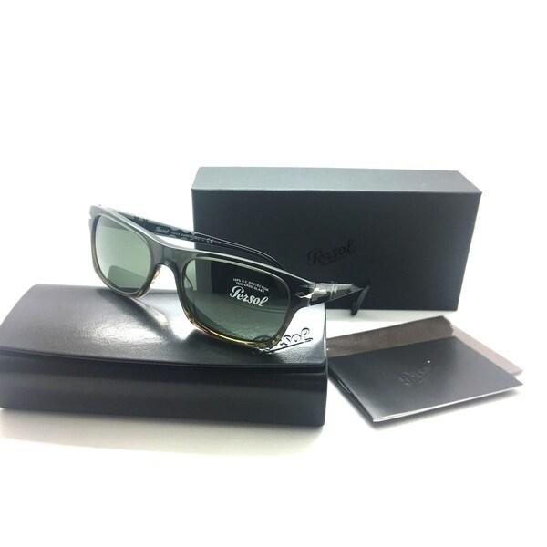 3d0f8ef41650 Persol Rectangular Sunglasses PO 3037s 1012 31 Size 54mm Dark Gray Brown