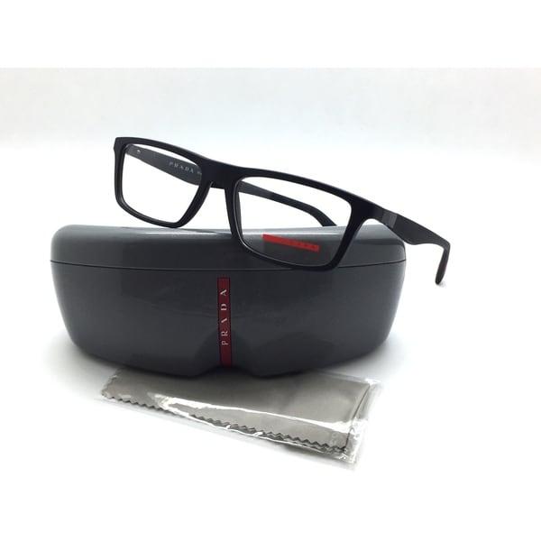 5fadbce7300 PRADA Eyeglasses VPS 02F DG0-1O1 54-16 135 Rectangular Black Rubber Frame