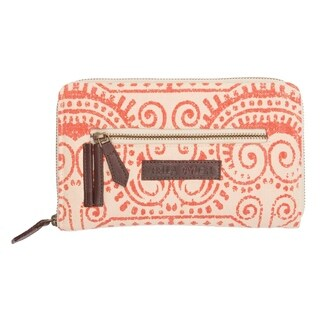 VHC Amber Carnelian Orange Bella Taylor Accessories Signature Zip Wallet