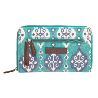 VHC Lanai Turquoise Blue Bella Taylor Accessories Signature Zip Wallet