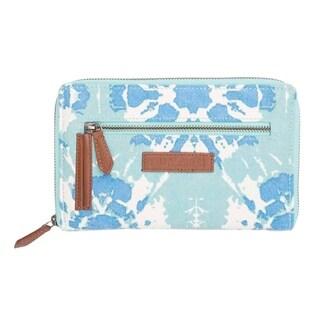 VHC Sierra Aqua Blue Bella Taylor Accessories Signature Zip Wallet