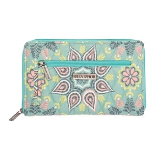 VHC Luna Dusty Turquoise Green Bella Taylor Accessories Signature Zip Wallet