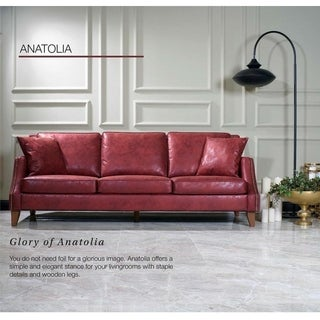 Anatolia Design Mid Century Modern Premium Quality Red Sofa