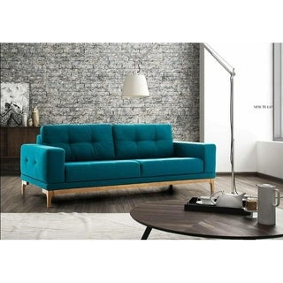 NewTulip Italian Design Mid Century Modern Premium Quality Teal Loveseat