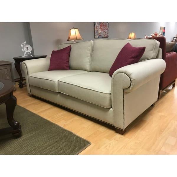 Panama Italian Design Mid Century Modern Premium Quality Off White Sofa