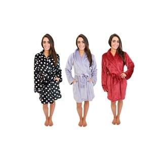Cherokee Women's Luxe Plush Robe