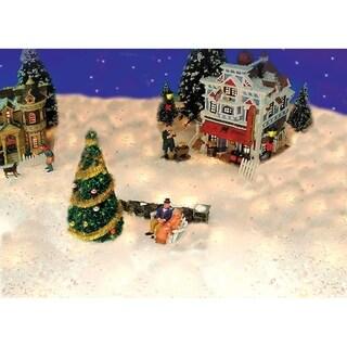 5' Pre-Lit Snow Blanket For Mantle or Christmas Village Display � Clear Lights