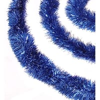 12' Soft and Sassy Blue Christmas Tinsel Garland - Unlit
