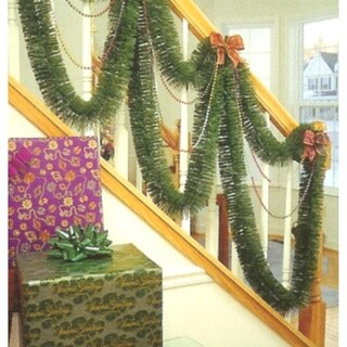 50' Indoor/Outdoor Green Mountain Pine Artificial Christmas Garland - Unlit