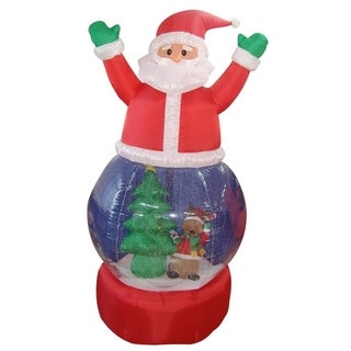 5' Inflatable Santa Claus Snow Globe Lighted Christmas Outdoor Decoration