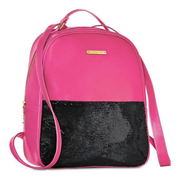 Shop Juicy Couture Pink and Black Sequin Fashion Backpack - Free Shipping  On Orders Over  45 - Overstock - 22889718 533165de6b10