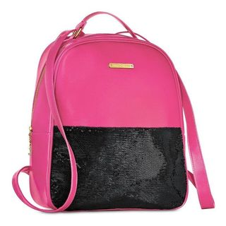 Juicy Couture Pink and Black Sequin Fashion Backpack