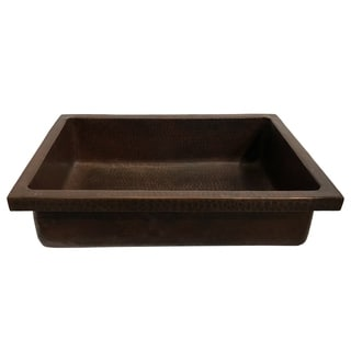 "Link to Handmade 20"" Hammered Copper Vessel Sink with 1"" Skirt (Mexico) Similar Items in Sinks"