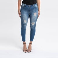 251405ac26 Shop C est Toi Women s Dark Wash Denim Skinny Jeans - Free Shipping ...