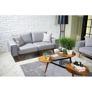 Istanbul Italian Design Mid Century Modern Premium Quality Light Grey Loveseat