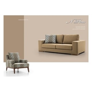 Nplus Italian Design Mid Century Modern Premium Quality Gold Loveseat