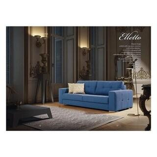 Elletto Italian Design Mid Century Modern Premium Quality Teal Loveseat