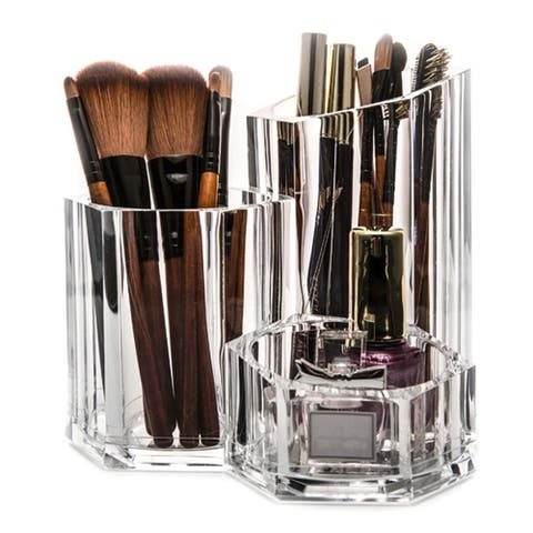 OnDisplay Avery Acrylic Cosmetics/Brush/Desktop Organizer