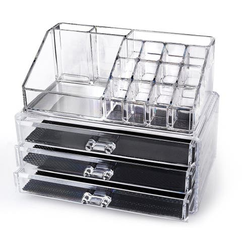 OnDisplay Annie Tiered Acrylic Cosmetic Jewelry Organizer