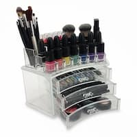 OnDisplay Laura Tiered Curved Acrylic Cosmetic Jewelry Organizer