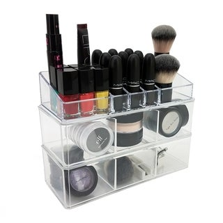 OnDisplay Madison 3 Tier Stacking Cosmetic Jewelry Organizer Trays