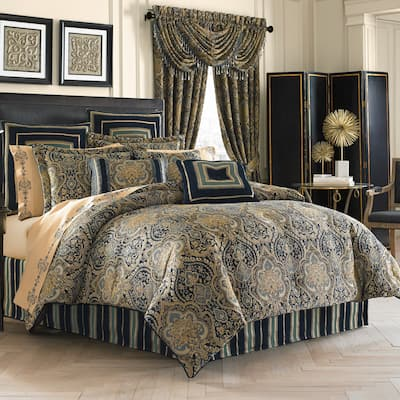 Five Queens Court Palmer Woven Chenille 4 Piece Comforter Set
