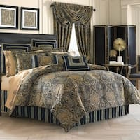 Five Queens Court Palmer Woven Chenille 4 Piece Comforter Set