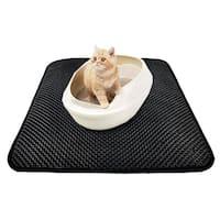 High-elastic EVA Cat Litter Mat Waterproof Double-Layer Trapper Mat - Black