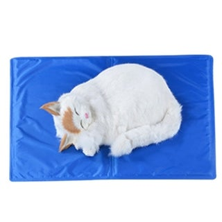 Summer Keep Cool Pets Cooling Mat Foldable Non-Toxic Cooling Pad - BLue - 50x60cm