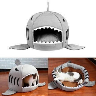 -mouth Shaped Pets Dog Bed Waterproof Soft Plush House