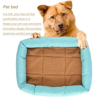 Dogs Cats Bed Puppy House Dog Nest Mat Cushion Blanket Dog Kennel (L)
