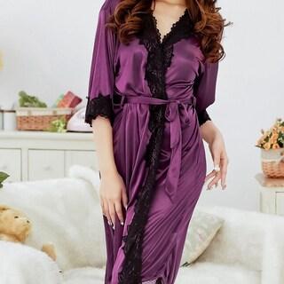 Bathrobes Plug Size Night Night Robe Lace Bathrobe