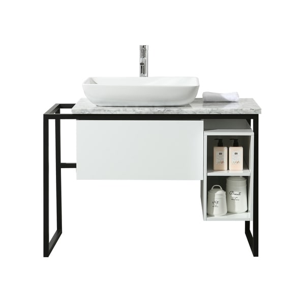 Shop Stufurhome Icelander 43 Inch Single Sink Bathroom ...