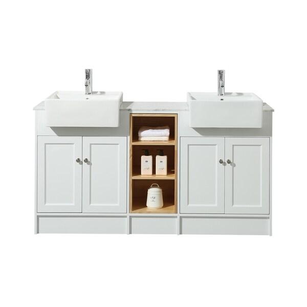 Phenomenal Shop Stufurhome Zevan 59 Inch White Double Sink Bathroom Download Free Architecture Designs Embacsunscenecom