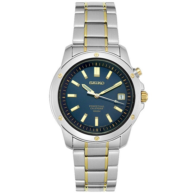 Seiko Men's SNQ010 Two-tone Stainless Steel Perpetual Calendar Watch