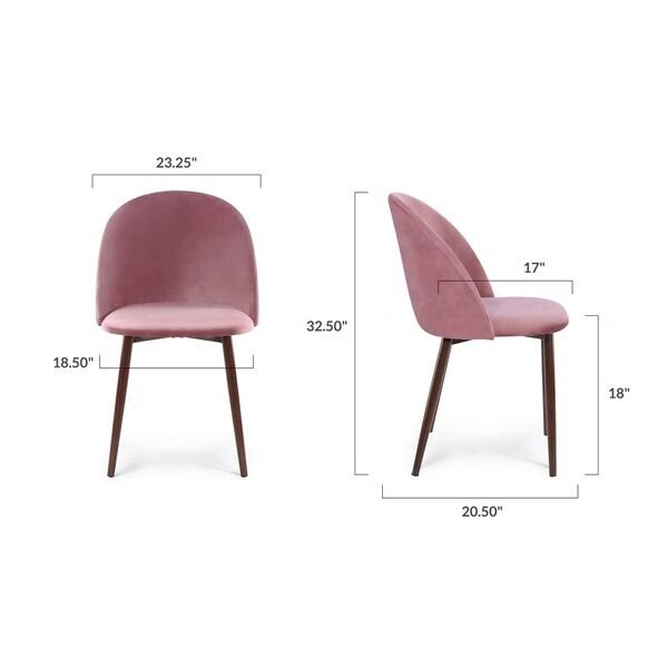 Edgemod Sedona Velvet Dining Chair (Set of 2)