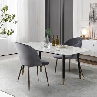 Poly and Bark Kantwell Velvet Dining Chair (Set of 2)