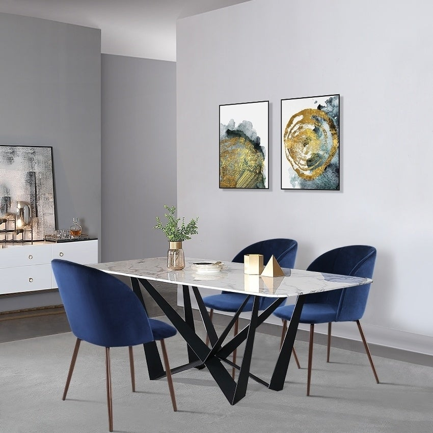 EdgeMod Kantwell Velvet Dining Chair (Set of 2) | eBay