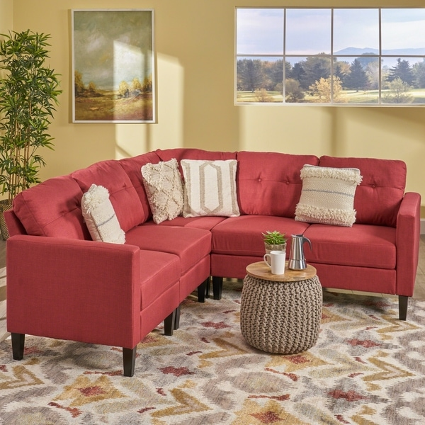 Delilah Mid Century Modern Sectional Sofa Set by Christopher Knight Home. Opens flyout.