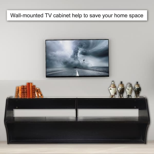 Shop Wall Mounted Universal Floating Tv Stand Console Free
