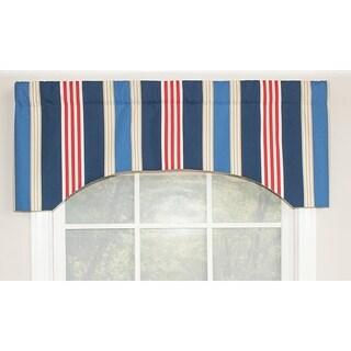 RLF Home Nautical Straights Arch Window Valance