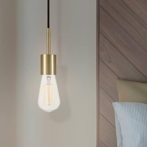 Porch & Den Bidwell Brass 1-light Plug-in Pendant