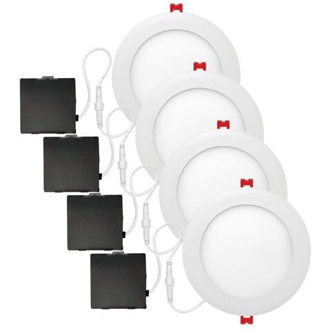 6 in. Ultra Slim Designer Series Ambient Dimming Integrated LED Recessed Lighting Kit (4-Pack)