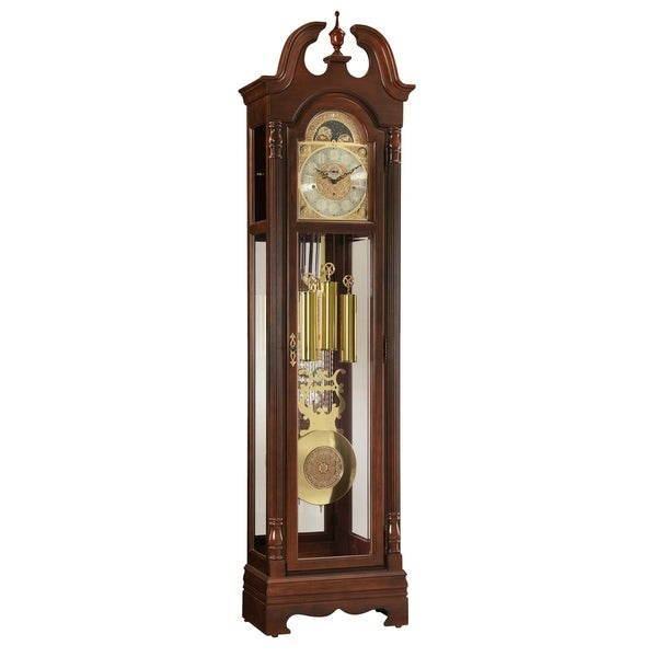 Ridgeway Fremont Traditional, Elegant, Antique Design, Grandfather Style Chiming Floor Clock with Pendulum and Movements