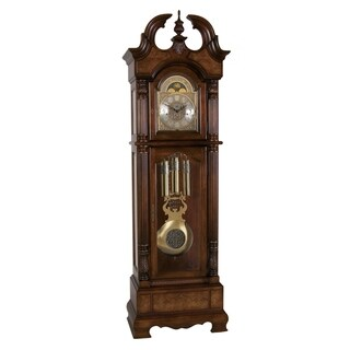 Ridgeway Kensington Traditional, Elegant, Antique Design, Grandfather Style Chiming Floor Clock with Pendulum and Movements