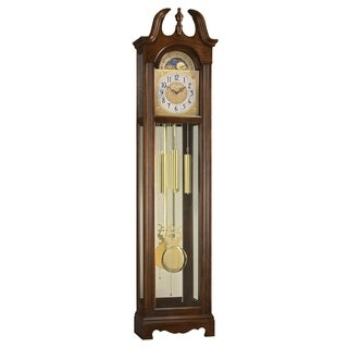 Ridgeway Harper Traditional, Elegant, Antique Design, Grandfather Style Chiming Floor Clock with Pendulum and Movements